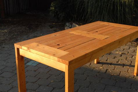 Diy Wood Patio Table Diy Patio Table With Built In Wine Coolers