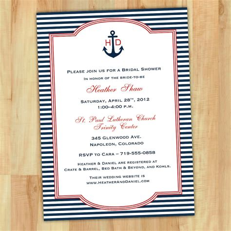 nautical stationery template nautical bridal shower invitations marialonghi