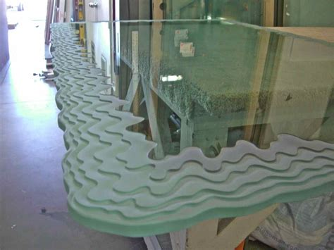 custom glass desk top custom glass tops sans soucie art glass