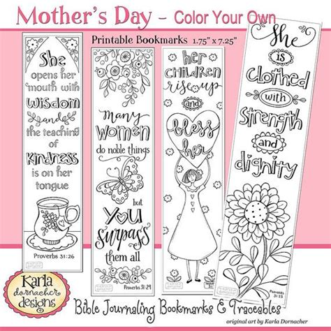 printable color your own bookmarks a godly woman proverbs 31 color your own bible