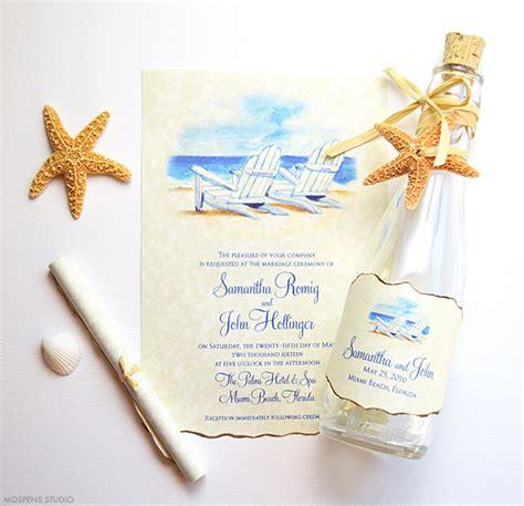 wedding invitations in a bottle chair wedding invitations mospens studio