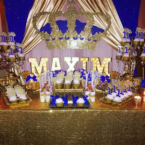 Prince Decorations by Royal Prince Birthday Ideas Prince Birthday