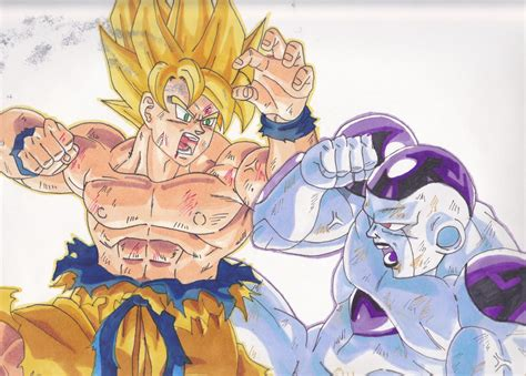 imagenes de goku vs frezer goku vs frieza drawings www imgkid com the image kid