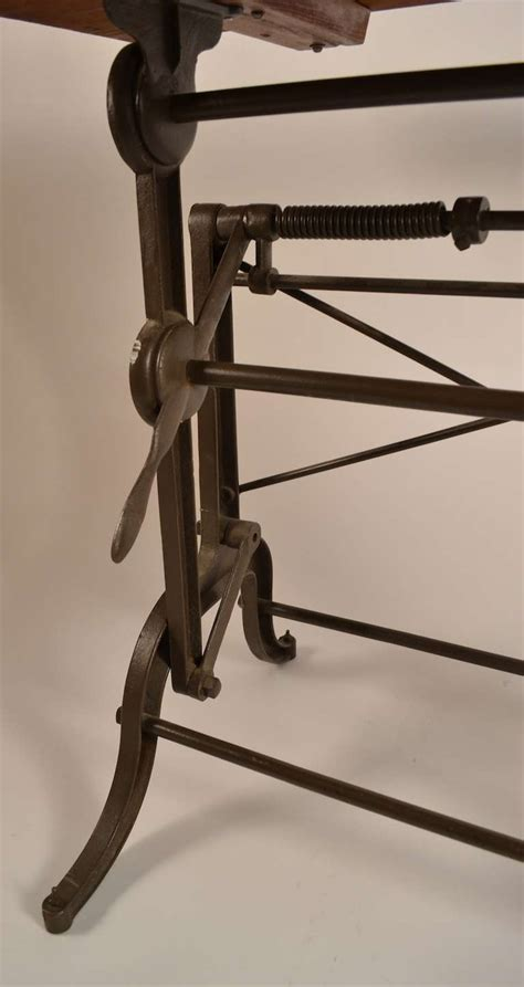 Cast Iron Drafting Table Base American Drafting Table With Cast Iron Base At 1stdibs