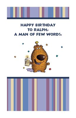 Man of Few Words Greeting Card - Happy Birthday Printable ... Loving Words For Husband