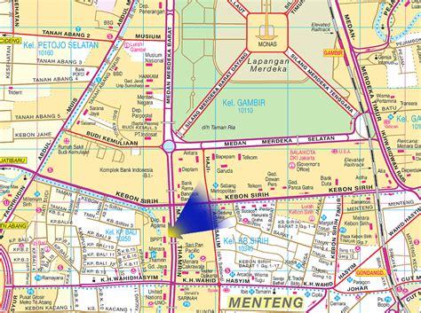 jakarta monas map