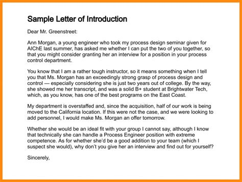 write  letter  introduction   job template