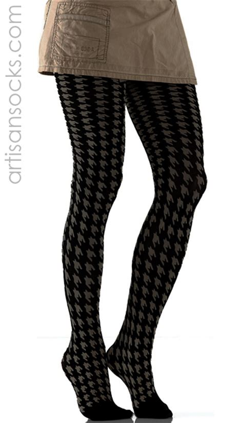 houndstooth pattern leggings black and gray houndstooth pattern tights