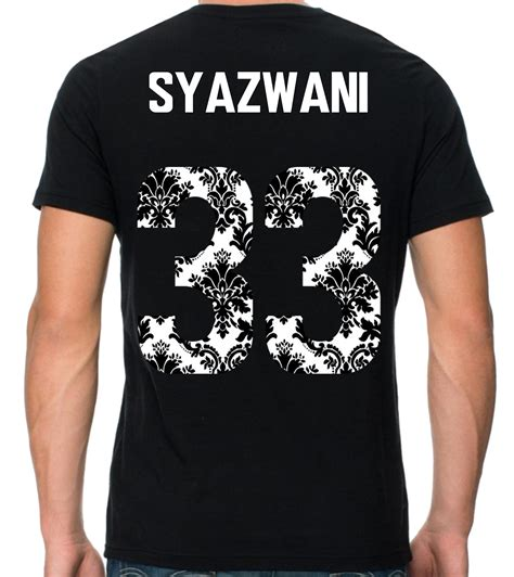 design baju nombor tshirt nombor bercorak by sempurna design printing
