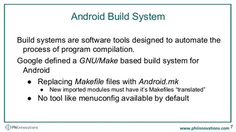 android build system android open source project build system phi innovations