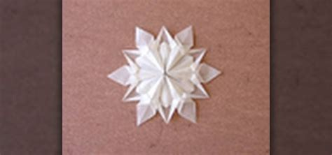 Origami Snow - how to origami a snowflake designed by dennis walker
