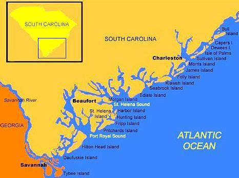 map of south carolina coast the of gullah gullah geechee islands south carolina and
