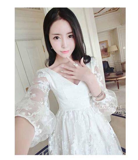 Dress Import Korea dress organza korea import cantik toko baju wanita