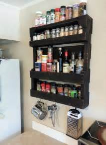Handmade Spice Rack Pallet Spice Rack For Kitchen Pallet Furniture Diy