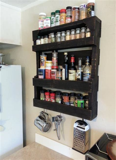 Build Spice Rack by Pallet Spice Rack For Kitchen Pallet Furniture Diy