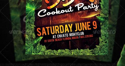 patio bbq flyer fonts cookout food and fonts