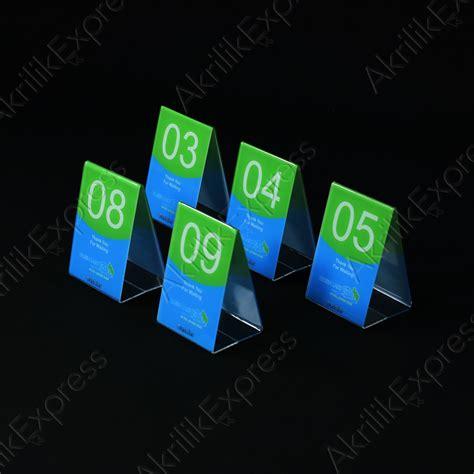 Nomer Meja Akrilik Cv002 Nomor Meja Acrylic Nomor Meja Akrilik akrilik nomer meja 1561 akrilik express