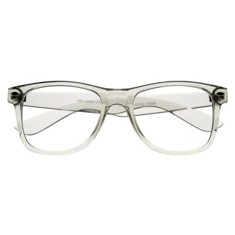 clear transparent translucent frame clear lens