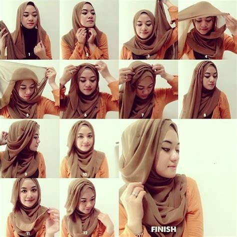 tutorial hijab simple tutorial hijab simple how to wear hijab step by step tutorial in 15 styles