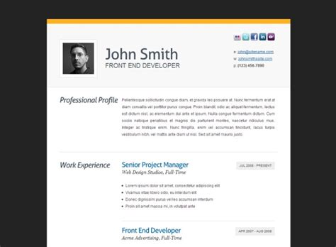 html resume templates to help you land a