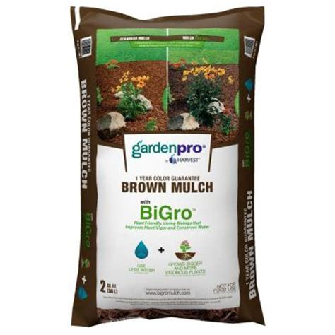 earthgro 2 cu ft brown mulch 2 00 fsp home depot