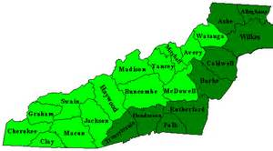 western carolina county map neighboring counties in western carolina on the map