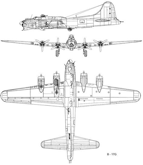 B 17 Sketches by The Boeing B 17
