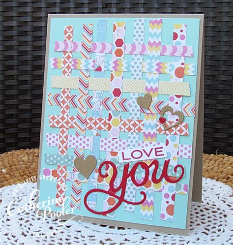 Patterned Paper For Card - patterned paper weaving catherine pooler designs