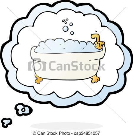 piktogramm badewanne gedanke badewanne blase karikatur gedanke freehand