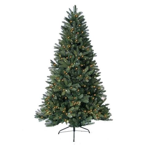 7 foot prelit artificial highland fir tree with 450 led