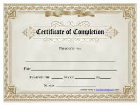 certificate of completion templates free printable 18 free certificate of completion templates utemplates
