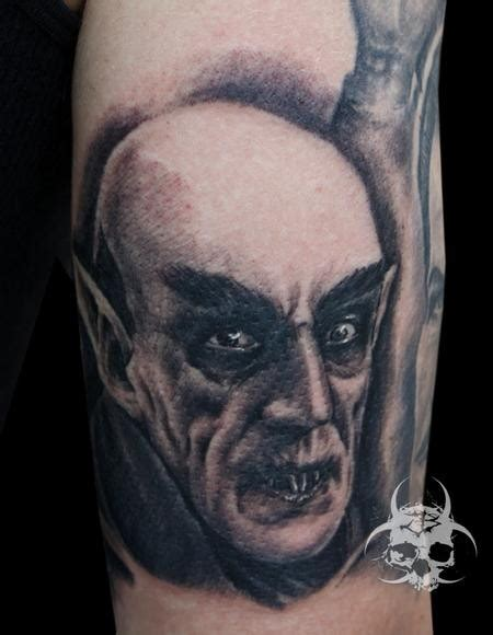 dracula tattoo grey ink dracula wf