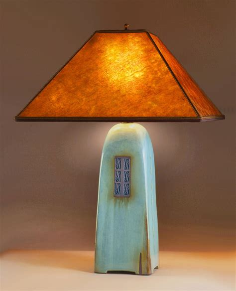 celadon l with mica shade by jim webb ceramic