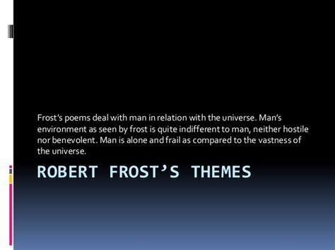 theme of design by frost robert frost s themes