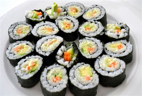 Clean Your Kitchen by Vegetable Sushi With Wasabi Mayonnaise Sweetest Kitchen