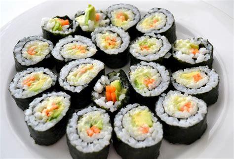 Sushi Kitchen Vegetarian Japanese Food Vegetable Sushi With Wasabi Mayonnaise Sweetest Kitchen