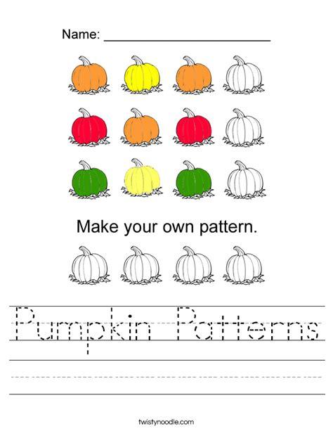 patterns in nature worksheet pumpkin patterns worksheet twisty noodle