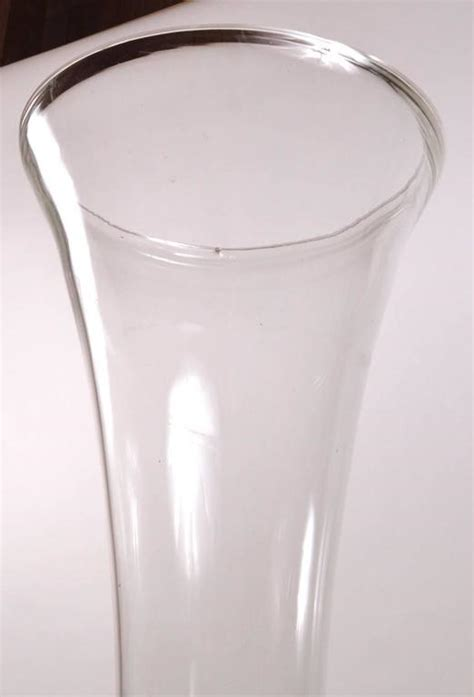 Large Glass Floor Standing Vases by Large Scale Floor Standing Glass Trumpet Vase For Sale At