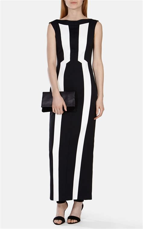 Vertical Maxi Dress millen vertical stripe maxi dress in black lyst