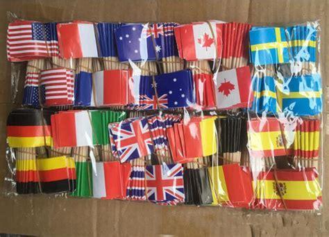 Mini Flags Paper Food Picks Toothpicks UK Australia