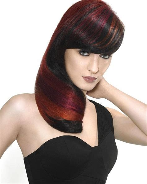 dramatic hair highlights hairs picture gallery dark brown hair with red highlights