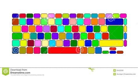 color keyboard free color keyboard stock vector illustration of information