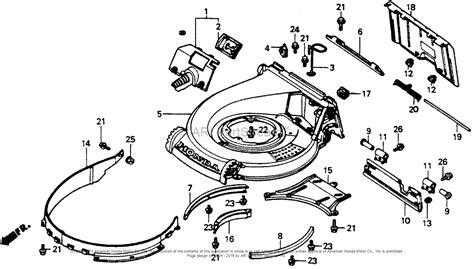 spare parts list honda lawn mower honda hr216 sxa lawn mower jpn vin macr 1000001 parts