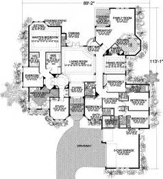 5 bedroom house floor plan florida style house plans 5131 square foot home 1 story 5 bedroom and 4 bath 3 garage