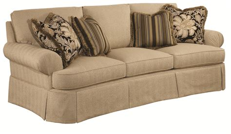 traditional sofas and loveseats traditional conversation sofa with waterfall skirts and
