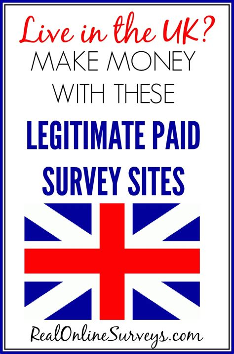 Legitimate Paid Surveys - live in the uk earn money with these legitimate online survey sites