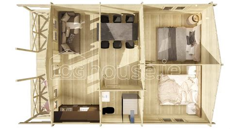 2 6 Cabin Bed by Two Bed Type C Log Cabin 6m X 9 5m Loghouse Ie
