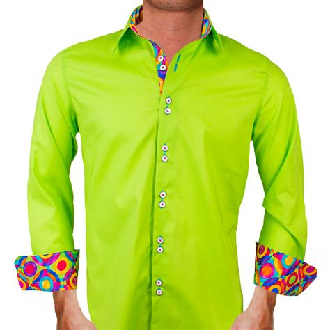 bright color shirts lime green dress shirts