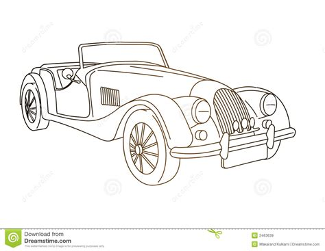 old cars drawings antique old car stock illustration image of antique