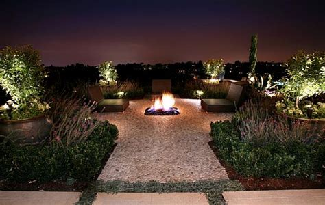 Recessed Patio Lighting Modern Patio Decor With Recessed Lighting And Fireplace Decoist